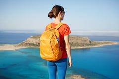 Viajero con la mochila Fotografía de archivo libre de regalías