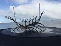 Viajero de Islandia Sun imagen de archivo