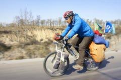 viajero de la bicicleta Imagen de archivo libre de regalías