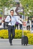 Viajero en Pekín céntrica, China imágenes de archivo libres de regalías