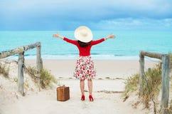 Viajero hermoso Foto de archivo libre de regalías