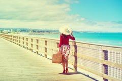 Viajero hermoso Fotografía de archivo