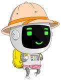 Viajero sonriente del robot Foto de archivo libre de regalías