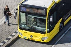 Viajero Utrecht del término de autobuses Imagenes de archivo