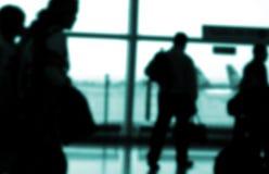 Viajeros imagen de archivo libre de regalías