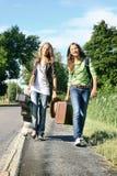 Viajeros adolescentes Imagenes de archivo