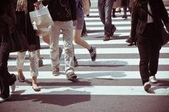 Viajeros de la ciudad de Tokio fotografía de archivo