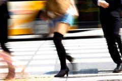 Viajeros de la ciudad de Tokio Foto de archivo libre de regalías