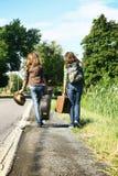 Viajeros del adolescente Imagenes de archivo