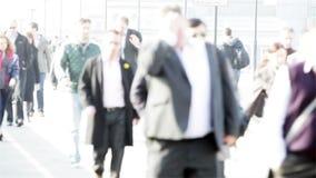 Viajeros del negocio de Londres del movimiento rápido almacen de video