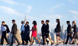 Viajeros diarios de Nueva York Fotografía de archivo libre de regalías