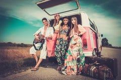 viajeros Multi-étnicos del hippie Imagenes de archivo
