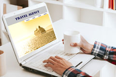 Viajes asesores en línea Fotografía de archivo libre de regalías