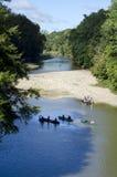 Viajes de la canoa en cala del azúcar fotografía de archivo libre de regalías
