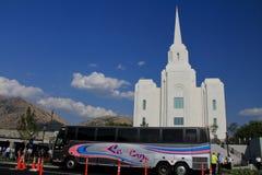 Viajes del templo de la ciudad LDS de Brigham fotos de archivo