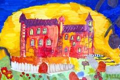 Viajes para los grupos de dibujos de los niños de la ciudad Járkov Imagenes de archivo
