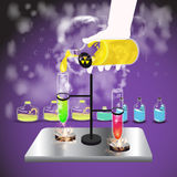 Vial chemistry reagent. concept of education Royalty Free Stock Photography