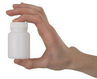 Vial with a drug in a hand Royalty Free Stock Photos