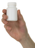 Vial with a drug in a hand Royalty Free Stock Photography