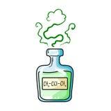 A vial of green potion.Medicines for diabetics.Diabetes single icon in cartoon style vector symbol stock illustration. Stock Image