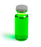 Vial with a vaccine or cure Royalty Free Stock Photo
