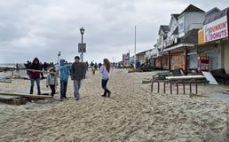 Viale Belmar dell'oceano fotografia stock