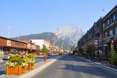 Viale del Banff Immagine Stock Libera da Diritti