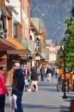 Viale del Banff Fotografia Stock
