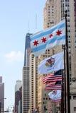 Viale del Chicago Michigan immagini stock