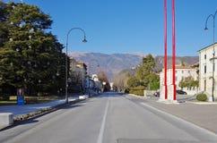 Viale della Vittoria, main street of the new center of Vittorio Royalty Free Stock Images