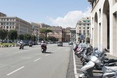 Viale-delle Brigate Partigiane, Genua Stockfotos