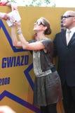 Viale delle stelle Cracovia RMF FM Immagine Stock
