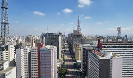 Viale di Avenida Paulista Paulista, citt? di Sao Paulo, Brasile immagine stock libera da diritti