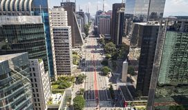 Viale di Avenida Paulista Paulista, citt? di Sao Paulo, Brasile fotografie stock