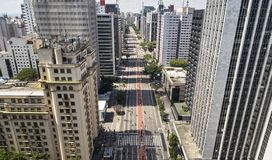 Viale di Avenida Paulista Paulista, citt? di Sao Paulo, Brasile fotografia stock