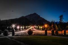 Viale di Banff Fotografie Stock Libere da Diritti