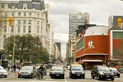 Viale di Corrientes a Buenos Aires. Immagine Stock