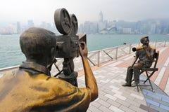 Viale di Hong Kong delle stelle Fotografie Stock Libere da Diritti