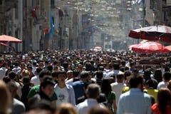 Viale di Istiklal a Costantinopoli Immagine Stock Libera da Diritti