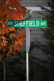 Viale di nanowatt Sheffield fotografia stock libera da diritti