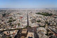 Viale di Parigi Fotografia Stock Libera da Diritti