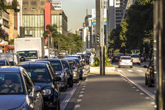 Viale di Paulista Immagini Stock