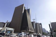 Viale di Paulista, São Paulo, PS, Brasile, fotografia stock libera da diritti