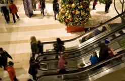 Viale di shopping di festa Fotografia Stock Libera da Diritti