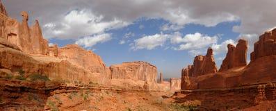 Viale di sosta del Moab Utah immagine stock libera da diritti