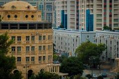Viale di Tbilisi Foto dall'ultimo pavimento dell'ufficio fotografia stock libera da diritti