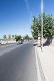 Viale Giuseppe Garibaldi, Civitavecchia, Italie Photographie stock libre de droits