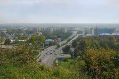Viale Kommunarskiy di vista in Bijsk Fotografia Stock Libera da Diritti