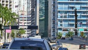 Viale Miami 4k di Brickell video d archivio
