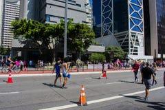 viale nella città Sao Paulo il Brasile del maggio 2018 immagini stock libere da diritti